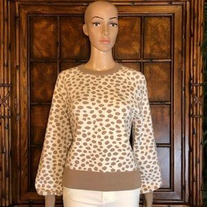 Ann Taylor Vanilla Spot Sweater